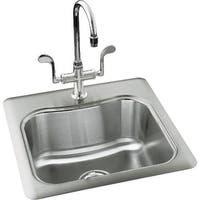 Kohler K-3363-3 Single Basin Stainless Steel Bar Sink from the Staccato Series