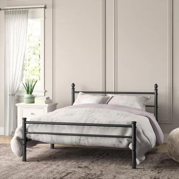 Metal Bed Frames With Simple Headboard