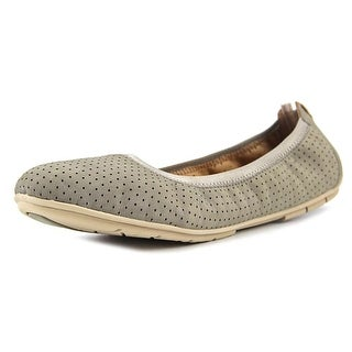 Clarks Un Tract Women W Round Toe Leather  Ballet Flats