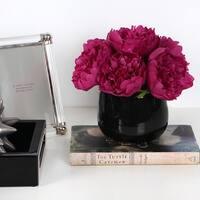 G Home Collection Luxury Dark Pink Peony Flower Arrangement