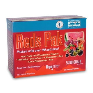 Trace Minerals Reds Pak - 30 Pak | Whole Red Foods | Strong Antioxidants | Vegan