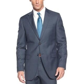 Ralph Lauren Slim Fit Navy Blue Glen Plaid Wool Sportcoat 42 Long 42L