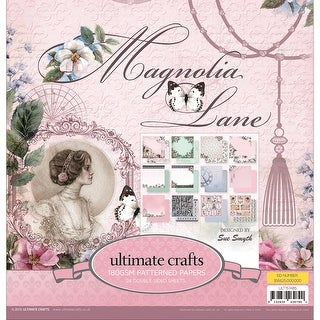 "Ultimate Crafts Double-Sided Paper Pad 12""X12"" 24/Pkg-Magnolia Lane, 12 Designs/2 Each"
