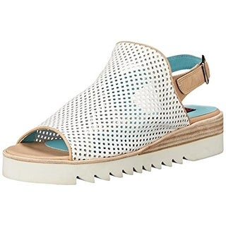 Everybody Womens Valo Wedge Sandals Leather Cut-Out - 41 medium (b,m)
