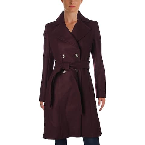 Via Spiga Womens Pea Coat Winter Wool Blend