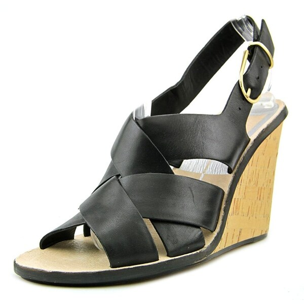 Dolce Vita Remie Women Open Toe Leather Wedge Sandal