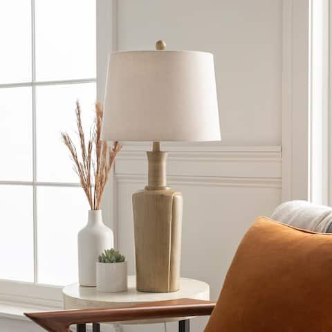 "Lurleane Classic Tan Urn 29.5-inch Table Lamp - 29.5""H x 14""W x 14""D"