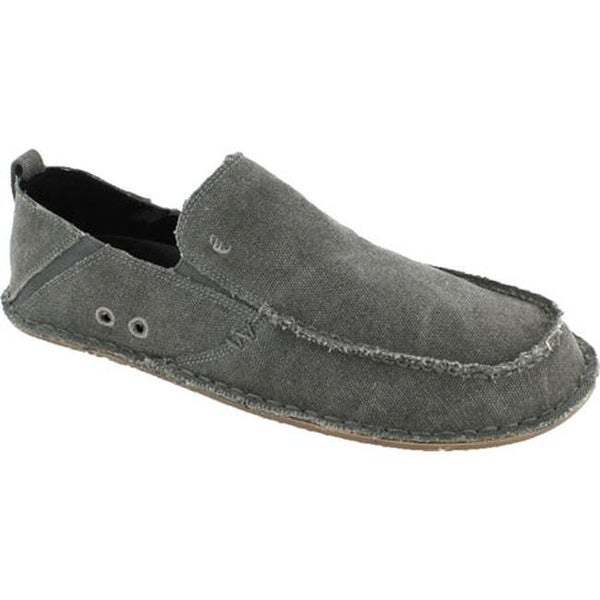b8817736a688 Shop Crevo Men s Rasta Moccasin Charcoal Woven Canvas - On Sale - Free  Shipping Today - Overstock - 10109815