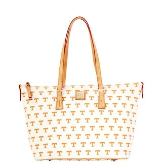 Dooney & Bourke NCAA Tennessee Zip Top Shopper (Introduced by Dooney & Bourke at $248 in Nov 2014) - White