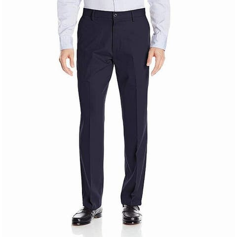 Buttoned Down Mens Pants Solid Blue Size 44x30 Straight Fit Stretch