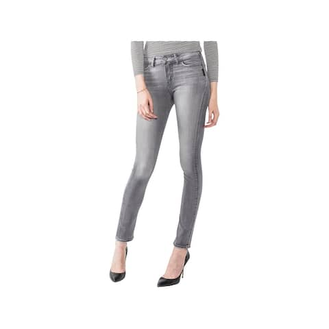 Silver Jeans Co. Womens Juniors Mazy Skinny Jeans Denim Faded
