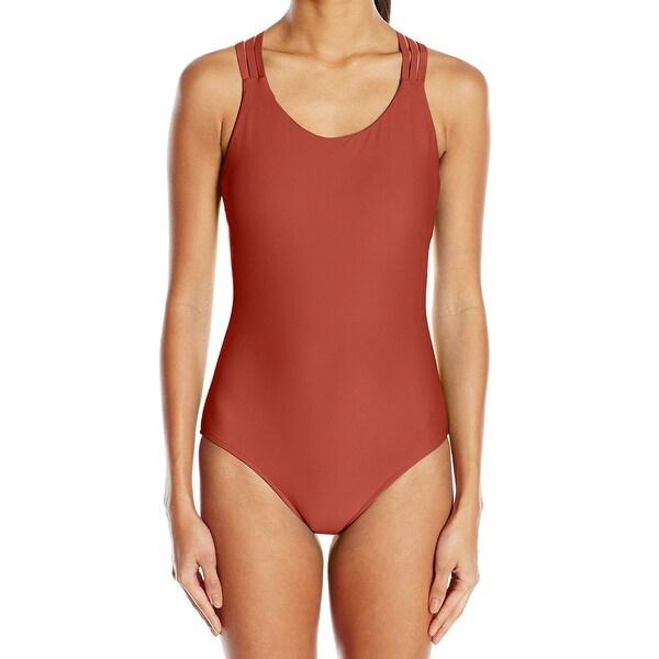 28d32b5a90ad6 Body Glove Orange Womens XS Strappy Cross-Back One-Piece Swimsuit