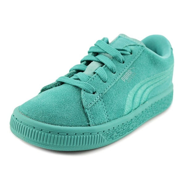 3af9791d3f8e22 Shop Puma Suede Classic Badge Toddler Round Toe Suede Blue Sneakers ...