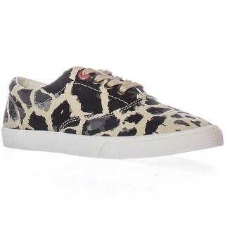 bucketfeet Michael Saint Aubin Giraffe Lace-up Sneakers - Beige/Black