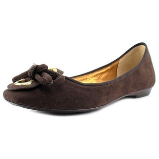 J. Renee Edie Women Square Toe Canvas Brown Flats