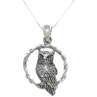 Link to Sterling Silver Wise Owl on Swing Pendant Necklace Similar Items in Necklaces