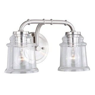 """Vaxcel Lighting W0240 Toledo 2 Light 14-3/4"""" Wide Bathroom Vanity Light"""