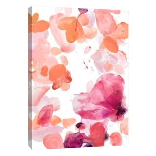 "PTM Images 9-108393  PTM Canvas Collection 10"" x 8"" - ""Butterfly Dance in Pink A"" Giclee Abstract Art Print on Canvas"