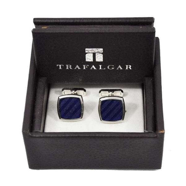 Trafalgar Blue Stripes Cuff Links Blue