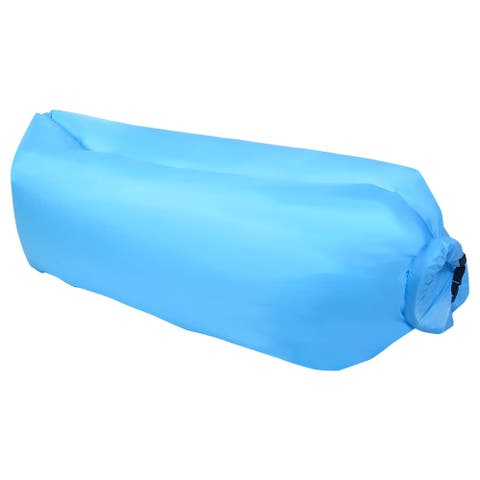 Outdoor Portable Lazy Inflatable Sleeping Camping Bed-Blue