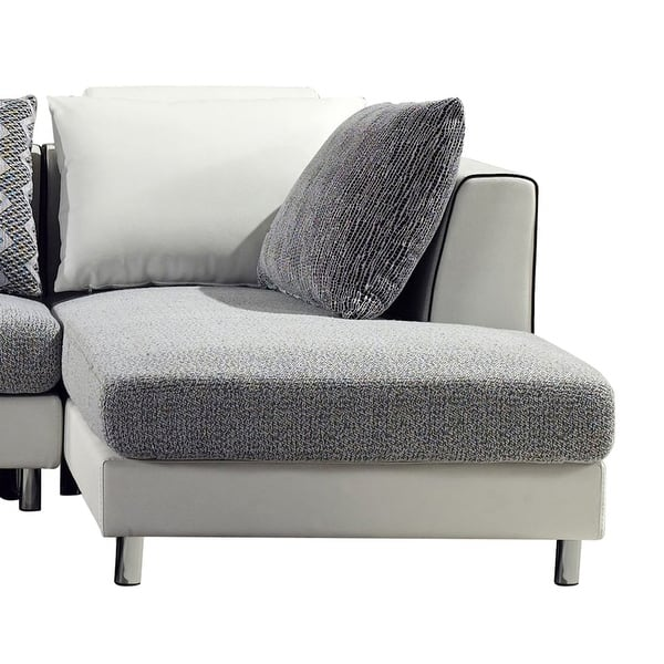 Furniture Of America Zoie Contemporary 2 Piece Sectional Chaise Set Overstock 6570055
