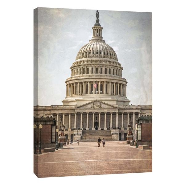 "PTM Images 9-105997 PTM Canvas Collection 10"" x 8"" - ""Washington DC Vintage Capitol"" Giclee Capitol Building Art Print on"