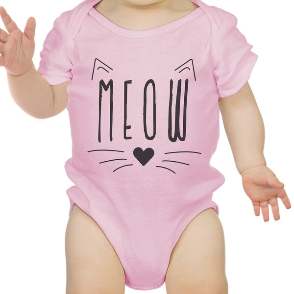 Meow Infant Bodysuit Gift Pink
