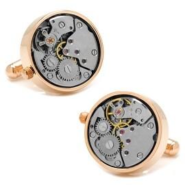 Rose Gold Watch Movement Cufflinks
