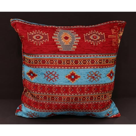 Anatolian Aster Chenille Turkish Decorative Pillow
