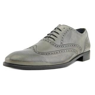 Rochas 711 Duff Men Wingtip Toe Leather Gray Oxford