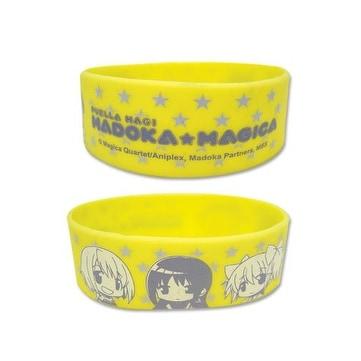 Madoka Magica SD Character PVC Wristband - YELLOW