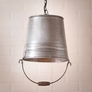Irvin's Country Tinware Water Bucket Pendant - 16 X 9 X 9 inches