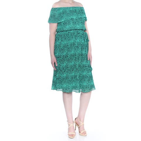 MICHAEL KORS Aqua Short Sleeve Knee Length Dress Size XXL