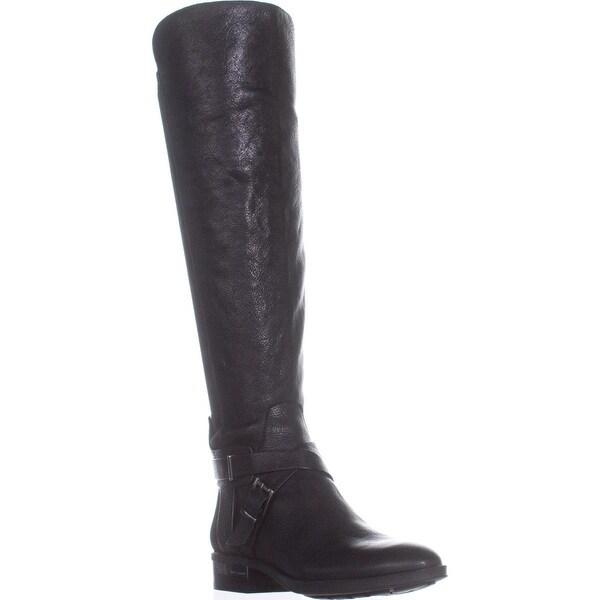 Vince Camuto Paton Flat Knee-High Fashion Boots, Black - 7 us / 37 eu