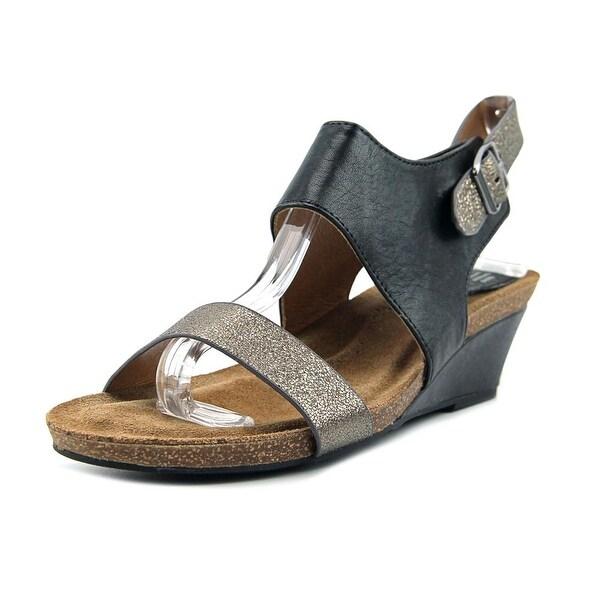 Sofft Vanita Women Open Toe Leather Black Gladiator Sandal