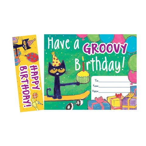 (6 Pk) Pete The Cat Happy Birthday Bookmark Awards