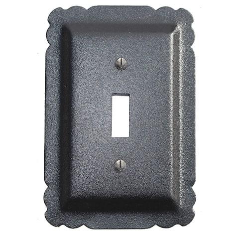 Switchplate Black Steel Single Toggle