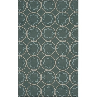 Hand-hooked Dolly Contemporary Geometric Indoor/ Outdoor Area Rug