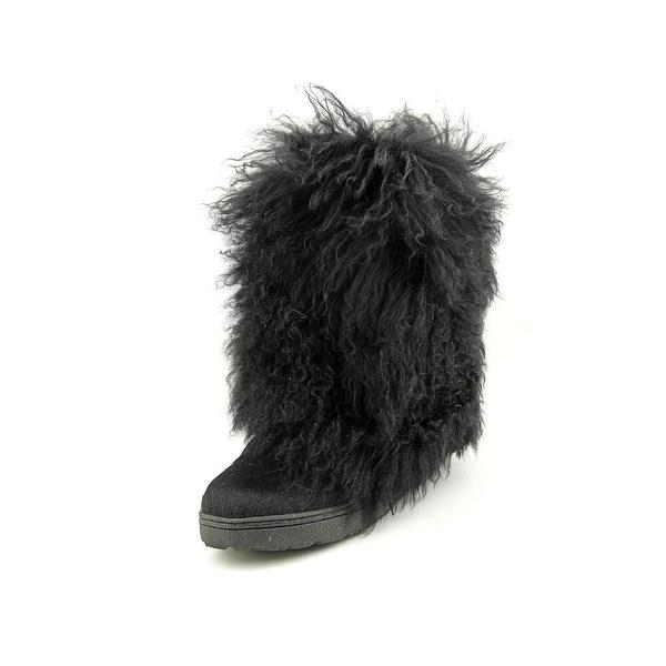 Bearpaw Boetis II Women Round Toe Synthetic Black Winter Boot