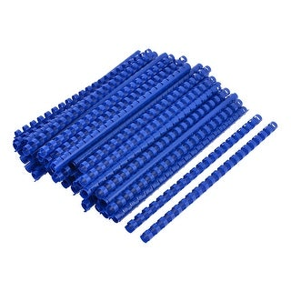 "Unique Bargains 100 Pcs Plastic 0.47"" Dia Binding Comb21 Rings School Office Students Stationery Blue"