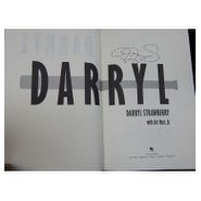 Signed Strawberry Darryl Darryl Darryl hardcover book on the inside cover autographed