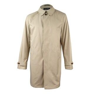 Lauren Ralph Lauren Men's Button-Front Pocketed Raincoat (40L, Khaki) - 40l