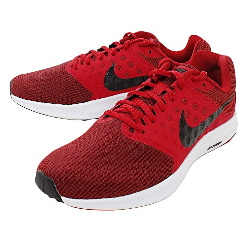 Nike Mens Downshifter 7, Gym REDBlack White, 13