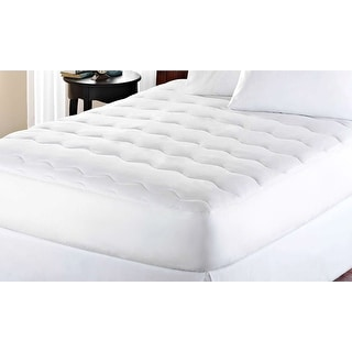 Link to kathy ireland Microfiber Water Proof Mattress Pad - White Similar Items in Mattress Pads & Toppers