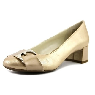 Anne Klein Has To Be   Round Toe Leather  Heels