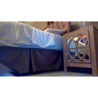 Furniture of America Alessa Contemporary Mirrored Rustic 2-drawer Nightstand