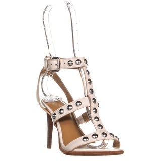 Coach Isabell II Studded T Strap Sandals, Chalk - 5 us / 35 eu