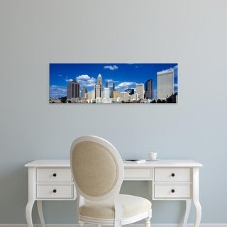 Easy Art Prints Panoramic Image 'Skyscrapers in a city, Charlotte, Mecklenburg County, North Carolina, USA' Canvas Art