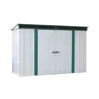 Arrow Euro-Lite 10' W x 4' L Hot Dipped Galvanized Steel Shed /ELPHD104