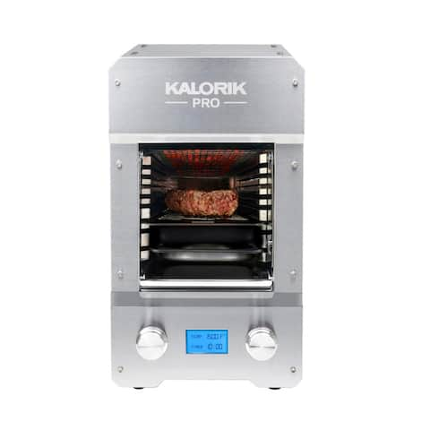 KALORIK Pro 1500 Electric Steakhouse Grill, Stainless Steel Refurbished